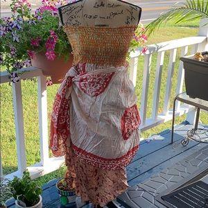 Boho Scarf 🧣 Dress. Size M. EUC.